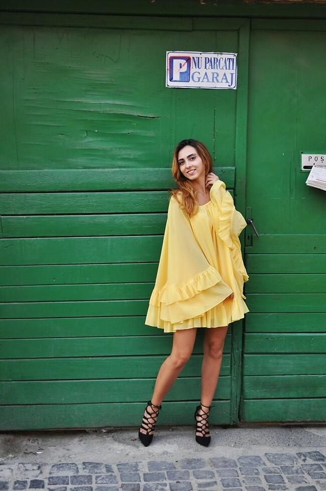 White Charm Lorette - Sheinside Yellow