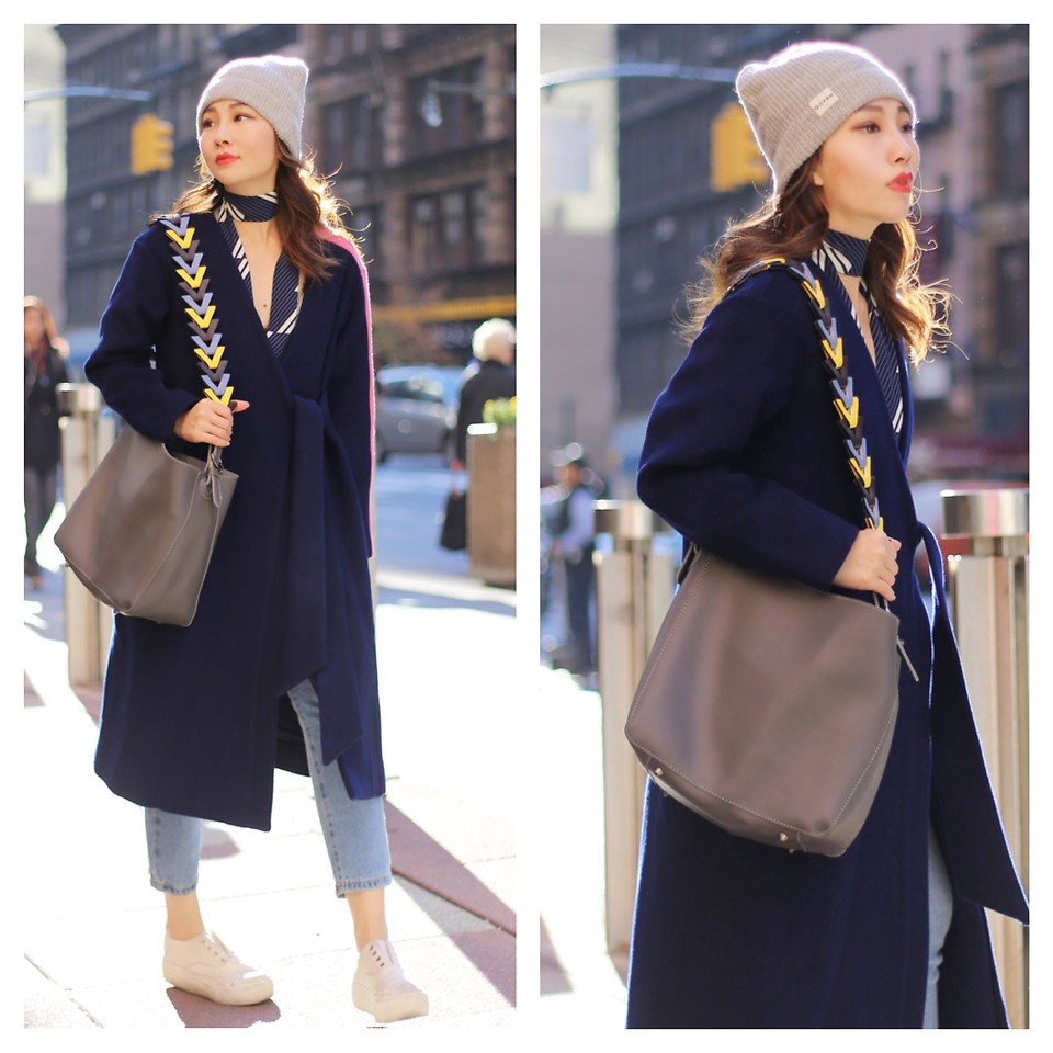 Fashionista NOW: How Style Bloggers Do The Coat And Sneakers Combo?