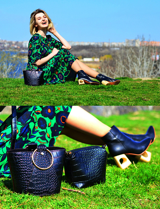 Fashionista NOW: Printed Green Dress Ideas For A Maximalist Fashion Statement