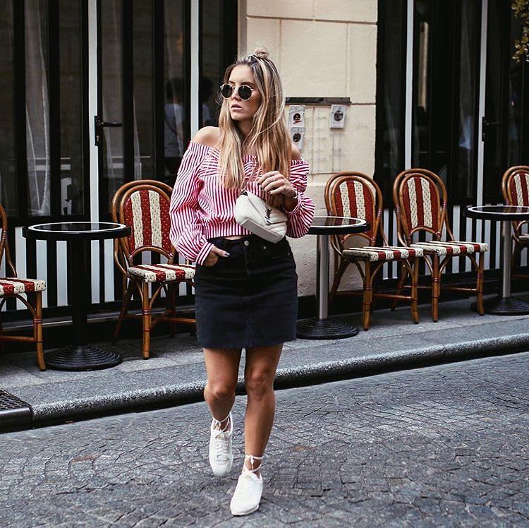Laced up Nike Cortez x YSL   Paris. • Fashiontwinstinct   By