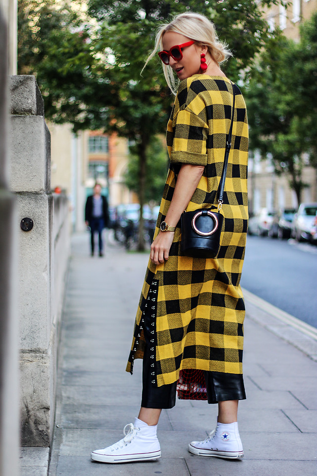 Fashionista NOW: How To Wear Yellow Plaid Like A Fashion Blogger?