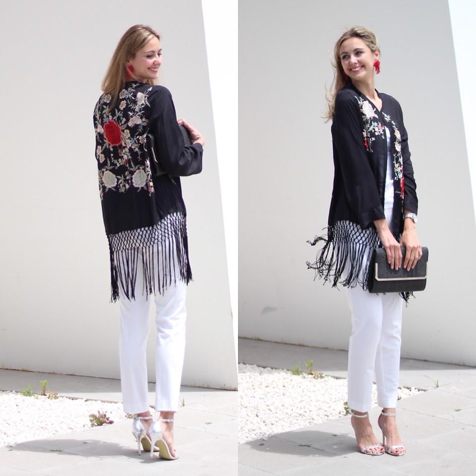 Moda zapatillas luego Ecoblogger Cristina Carrillo - Zara Kimono, Mango Pantalón, Asos ...