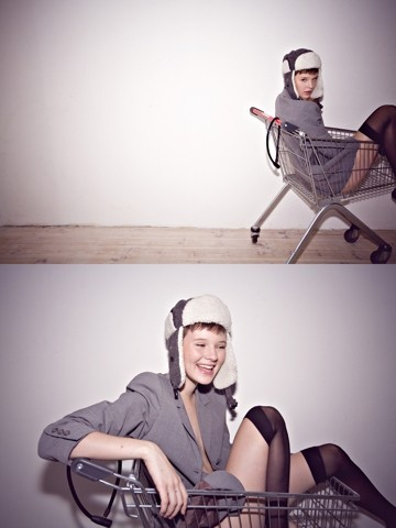 Arvida Byström - H&M Cap, H&M Stockings, My Mother Jacket - LOST IN THE SUPERMARKET?