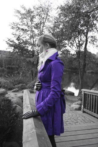 Merli P - Topshop Purple Bow Back Coat - Lavender .