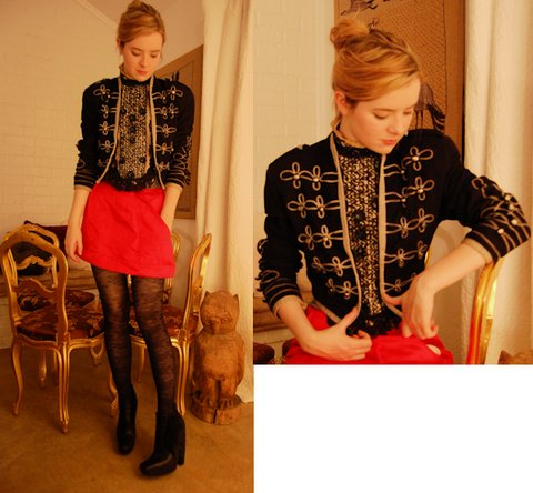 Jane Aldridge - Archive Vintage Band Jacket, Mischen Skirt, Balenciaga Boots - You fill me with the moonshine, yes you do