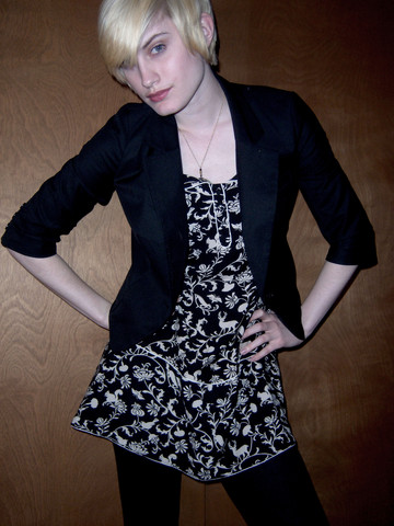 Julie K - Urban Outfitters Jacket, Urban Outfitters Dress - Suited