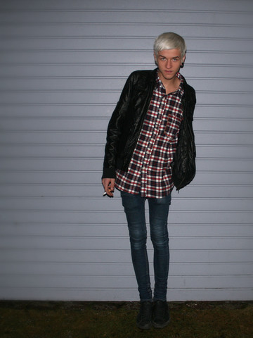 Joachim Kullberg - Leather Jacket, Cheap Monday Jeans, Carlings Shirt, Nike Sneakers - Another kind of love