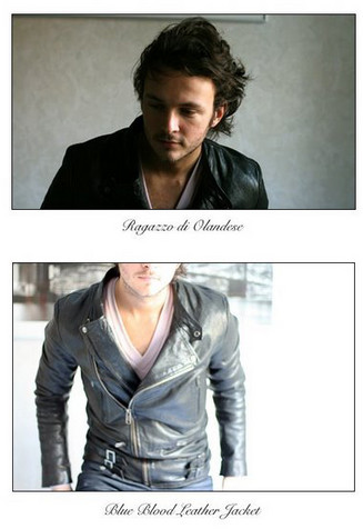 The Man Who Knew Too Much - Blue Blood Leather Jacket, American Apparel Jersey, Blue Blood Leather Jacket - Ragazzo di Olandese