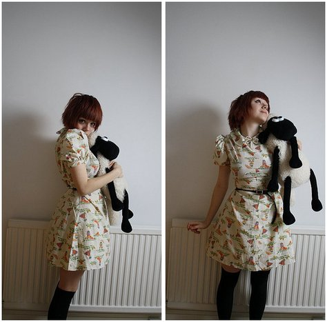 Kate G - He's A Hot Water Bottle Thingy Actually. We Named Him Graham!, No Brand? O: Slightly Ugly Dress, Came With A Dress By Cue Belty Wo Wo, That Bow Pearly Thing From My Previous Outfit - Oh SEAN. i mean graham.