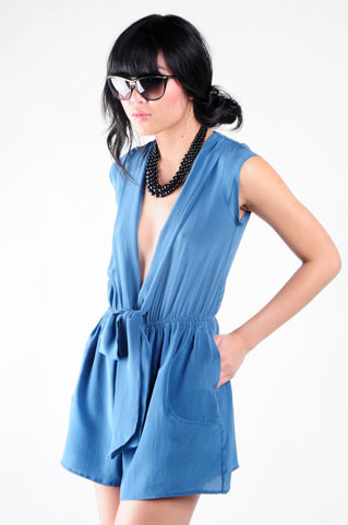 Nida Elizabeth - Nasty Gal Atlantic Silk Romper - No Monday blues!