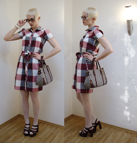 Alice B Fred Perry Plaid Dress, Tw Steel Jewelled Watch