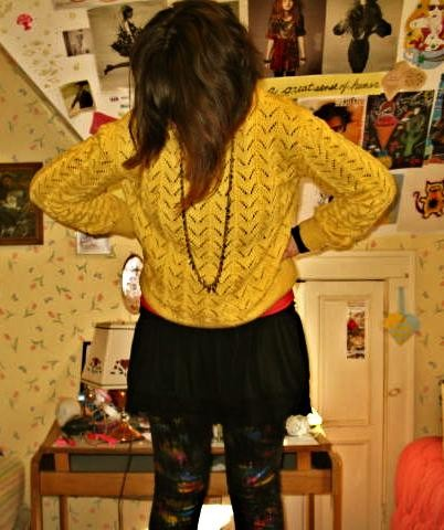 Kaitlin T H M Metallic Leggings My Mom Sweater Kohl S Short Skirt Forever 21 Long Feather Necklace I Ain T No Abacus But You Can Count On Me Love Lookbook