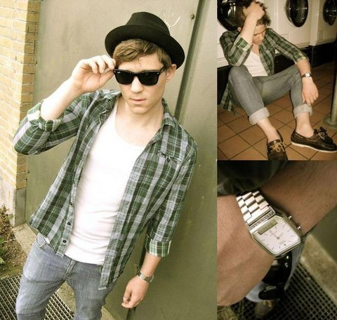 Thomas R. - Amanda Christensen Trilby, Casio Watch, Ray Ban Wayfarer, Won Hundred Shirt - Urban redneck