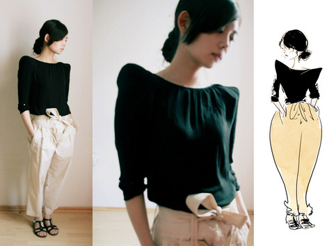 Nancy Zhang - Zara Top, See By Chloé Pants - Alone.