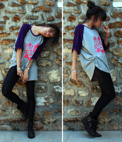 Adeline Rapon - Uniqlo Shirt, American Apparel Leggings, Topshop Shoes - Mon criquet a explosé.