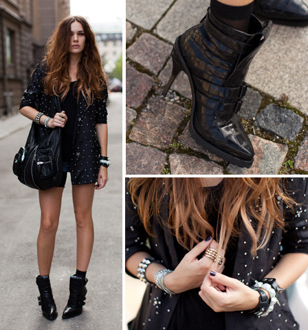 Caroline B - Topshop Jacket, Wang Shoes - Diamond jacket