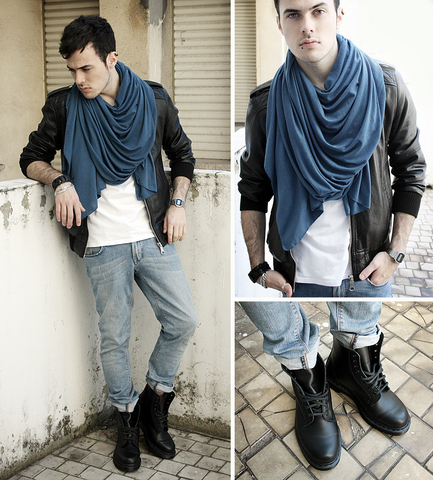 Juan Sierra - Zara Scarf, Zara Jacket, H&M Jeans, Dr. Martens Boots - They said all teenagers scare
