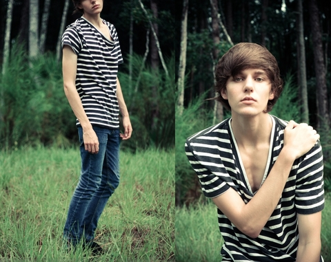 Colin H. - Urban Outfitters Striped Slouch Neck, Cheap Monday Skinny Jeans - F*ck you, I'm a zebra!