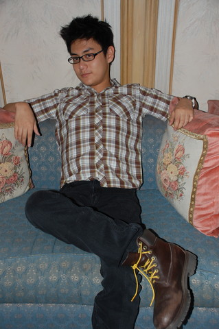 Aloy Chua - Old Navy Checkered Dress Shirt, Levi's® Black Jeans, Timberland Brown Boots, Fossil Stainless Steel Watch - Born to Be Alive