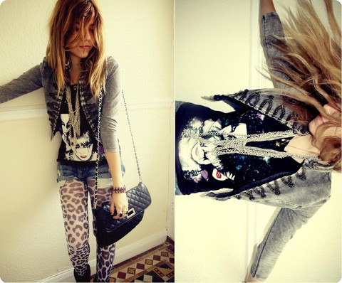 Stefany A - H&M Leo Prints Tights, H&M Tee, H&M Jacket - YODEL -OH- EE -DEE