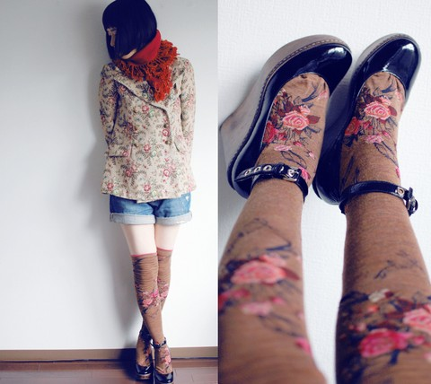 Shan Shan - Antipast Socks - Flowerflowerflower***
