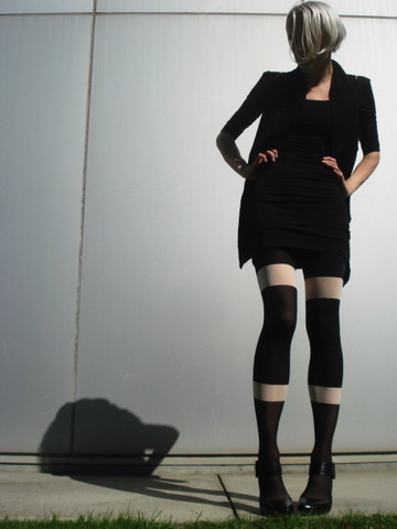Biz C - H&M Dress, Wilfred Vest, House Of Holland Tights, Ash Footwear Shoes - Day