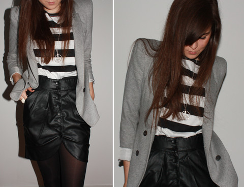 Andy T. - Vero Moda Skirt, H&M Shirt, Zara Blazer - FROM THE OTHER SIDE OF THE GLASS WALL
