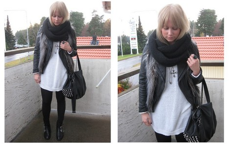 Sofie Ekstrom - Fake Fur Vest, Mq Leggings, Zara Bag - 091106