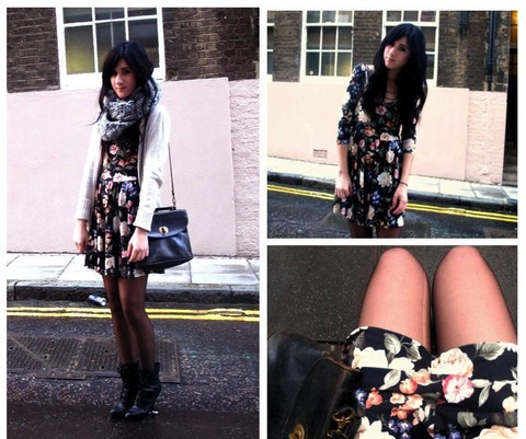 Bonnie Barton - Topsop Dress, Primark Scarf, Thrifted Bag - I'd like to walk around in your mind someday