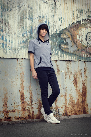 Alex Evans - Heritage Short Sleeves Hoody, American Apparel Jeans, Converse Shoes - You left me speechless, so speechless