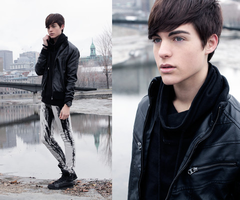 Damien Verhagen - Zara Fake Leather Jacket, Zara Sweater, Silence & Noise Skinny Pants, Diesel High Rise Shoes - Money Honey