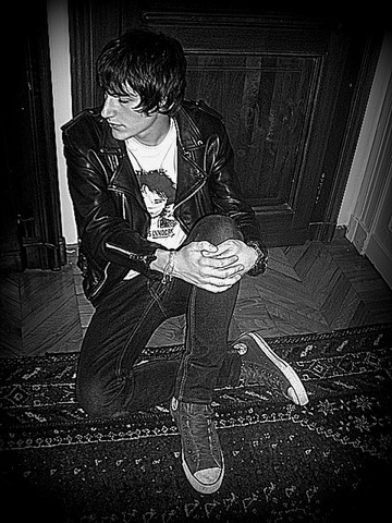 Alessandro B - Vintage Leather Jacket, Cheap Monday Skinny Jeans, Converse Chucks, Braclets - Every word is a knife in my ear