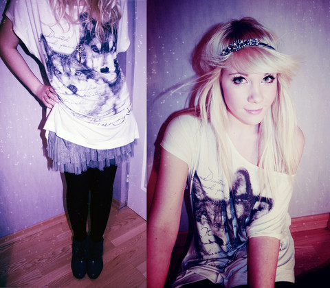 Kerti P. - Lindex Headband, Frontrowshop Oversized Wolfie, Lindex Black Tights, H&M Tutu Skirt - She lives in fairytale.