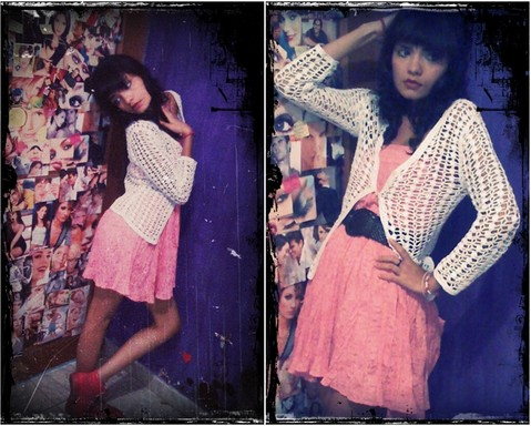 Jazz Patiño vidal - Coat, Zara Pink Dress, Reebok My Power ♥ - INNOCENT DOLL ♥