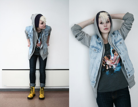Kaja Is - Dr. Martens Boots, Nudie Jeans - The ones who draw a picture and proclaim that it´s art