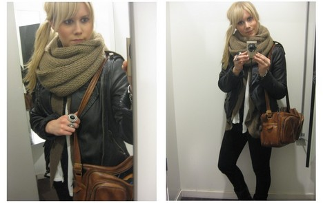 Sofie Ekstrom - Vintage Bag, Zara Leather Jacket - A little bit of brown