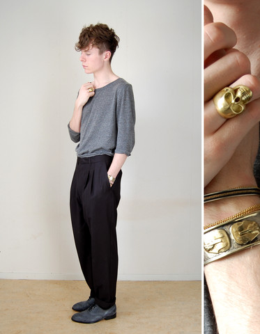 Samuel Friberg - Topman Wide Neck Scoop Tshirt, Cheap Monday Shootpants, Acne Studios Shoes, Tjalla Malla Ring - Enjoy the silence