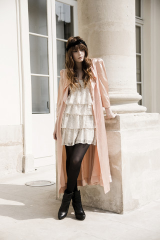 Louise Ebel - New Look Dress, Vintage Nightgown, Topshop Boots - Carré de Baudoin
