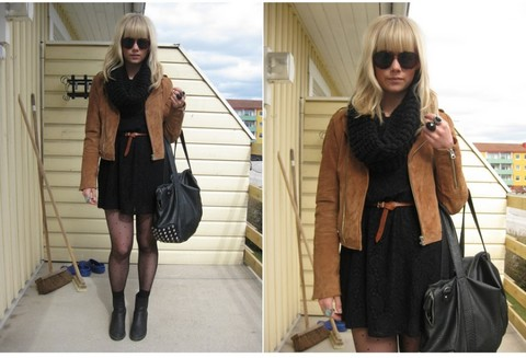Sofie Ekstrom - Made In The Shade Suede Jacket, Monki Lace Dress - .......