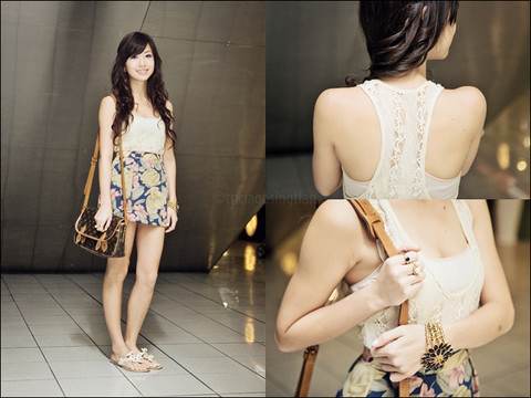 Kryz Uy - Lace Top, Wagw Nude Bandeau, I Made It Skirt, Crossings Bracelet, Louis Vuitton Bag - So tell me