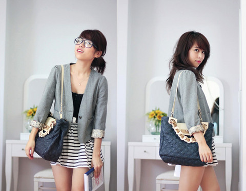 Linda Tran N - Ebay Blazer, Zara Skirt - The nerd who loves fashion