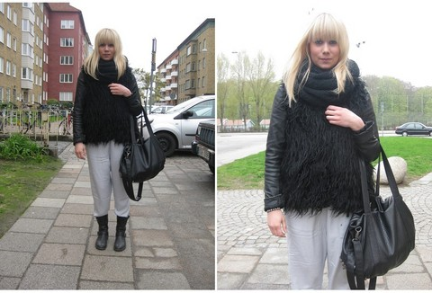 Sofie Ekstrom - Zara Fake Fur Vest, Monki Pants - +++