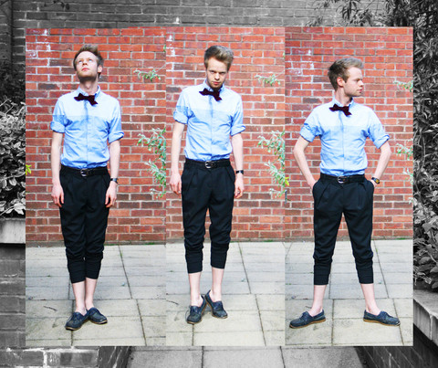 Christopher Barnes - French Connection Uk Trousers, Carolyn Massey Two Tone Shirt, Vintage Bowtie, Charity Shop Deck Shoes - One-two-three