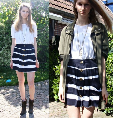Iris M. - River Island Skirt, Vintage Jacket -  she's in parties
