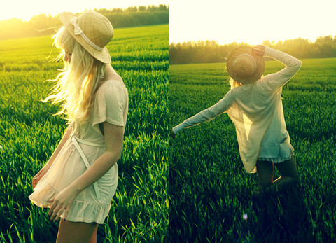 Kerti P. - Vintage Hat And Selfmade Bow, Lindex Creamy Ruffled Dress, Terranova Belt, House Sheer Cardigan - But she laughed and danced through the field of graves.