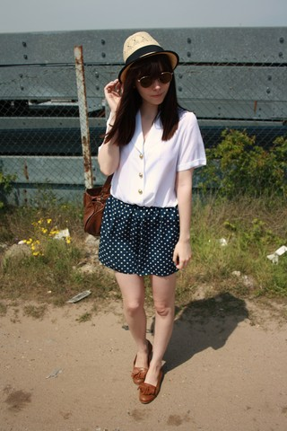 Sarah B - Playsuit, Straw Hat, Loafers - Hot, sunny, etc