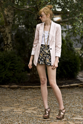Kazia Jaszkiewicz - Zara Blazer, Topshop Shorts, Aldo Heels - Better in this way