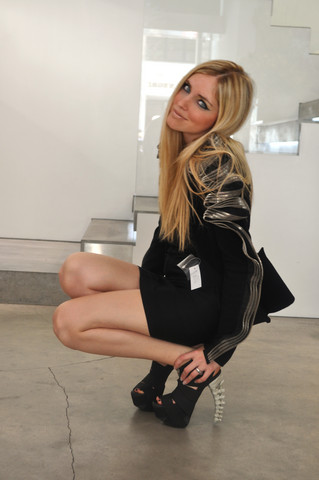 Chiara Ferragni - Dsquared Bone Heels, David Koma Jacket - Did you notice the bone heels?