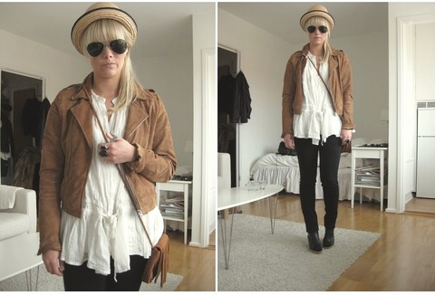 Sofie Ekstrom - Made In The Shade Suede Jacket, Zara Tunic, H&M Fringe Bag - 100614