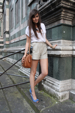 Andy T. - Vintage Leather Shorts, River Island Shoes - CIAO FIRENZE!